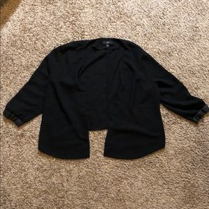 Mossimo Black Blazer with Faux Leather Details